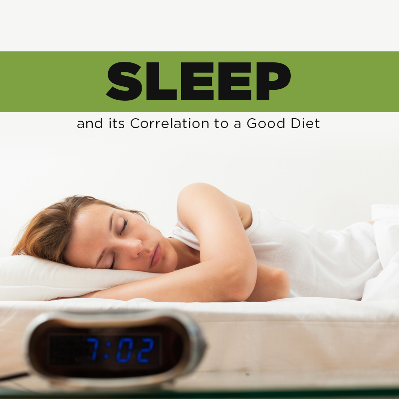 Sleep & its correlation to a good diet